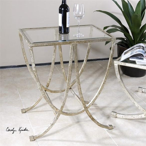 Uttermost Marta Antiqued Silver Side Table (24592) - UTMDirect