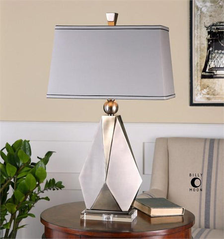 Uttermost Taburno Brushed Nickel Table Lamp (26506) - UTMDirect