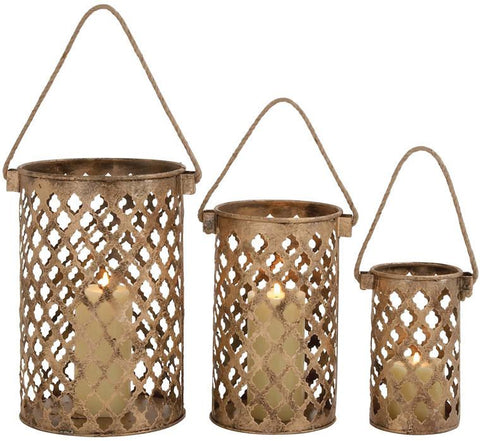 Benzara 26845 26845 Classy Styled Attractive Metal Candle Lantern