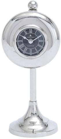 Benzara 27853 Table Clock With Round Shape And Subtle Curve