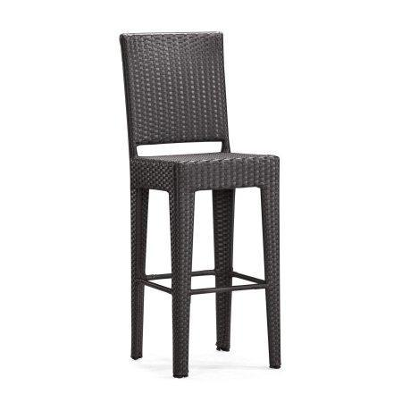 Zuo Modern 701142 Anguilla Bar Chair Color Espresso Aluminum Frame Finish - Set of 2