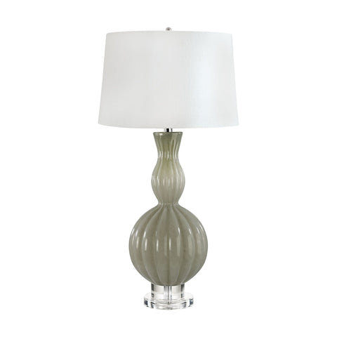 Lamp Works LAM-282 Glass Gourd Collection Taupe Finish Table Lamp