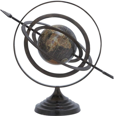 Benzara 28354 Metal Globe With Beautiful Stable Design & Stable Base