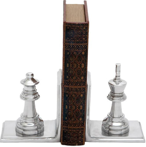 Benzara 28361 Metal Bookend Pair With Broad Stable Base