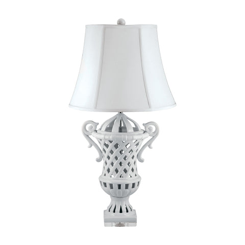 Lamp Works LAM-285 Ceramic Collection Porcelain Finish Table Lamp