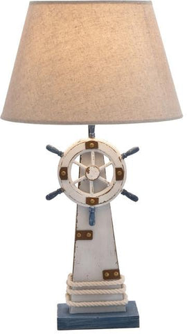 "Bayden Hill Wd Lighthouse Table Lamp 7""W, 25""H - Peazz.com"
