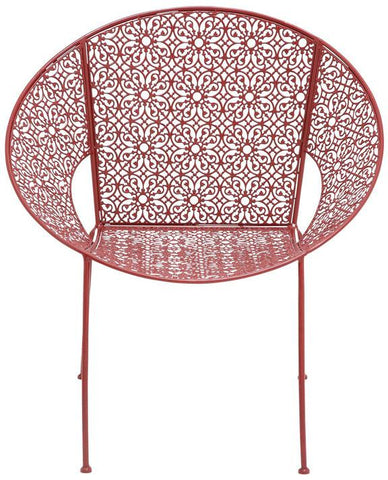 Benzara 28926 The Bright Metal Red Chair
