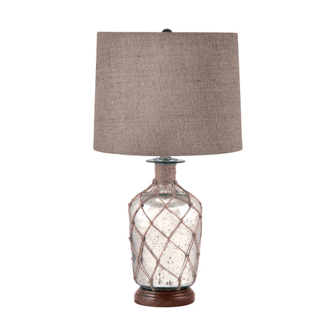 Lamp Works LAM-289 Mercury Glass Collection Mercury Finish Table Lamp