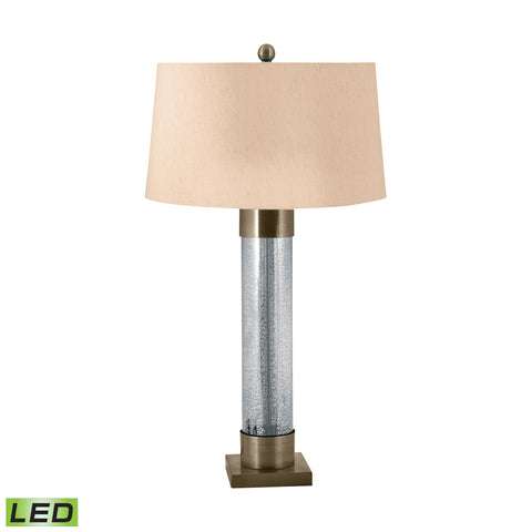 Lamp Works LAM-291-LED Mercury Glass Collection Mercury,Antiqued Brass Finish Table Lamp