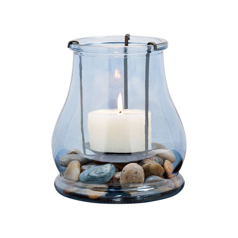 Pomeroy POM-291012 Caspian Collection Rustic,Denim Finish Candle/Candle Holder