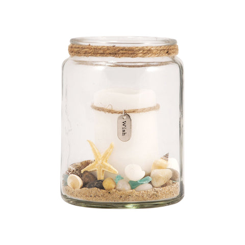 Pomeroy POM-291630 Harbor Collection Clear Finish Candle/Candle Holder