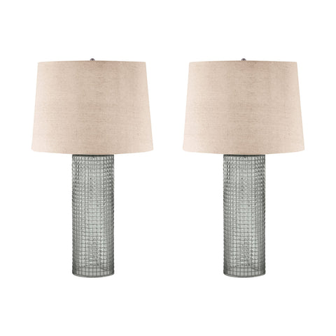 Lamp Works LAM-292/S2 Glass Collection Glass Finish Table Lamp