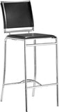 Zuo Modern 300150 Soar Bar Chair Color Black Chromed Steel Finish - Set of 2 - BarstoolDirect.com - 1
