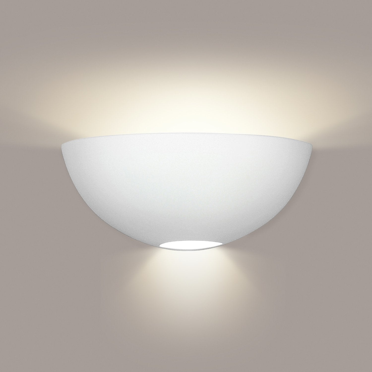A19 304-WET-GU24-A11 Islands of Light Collection Aegina Fog Finish Wall Sconce