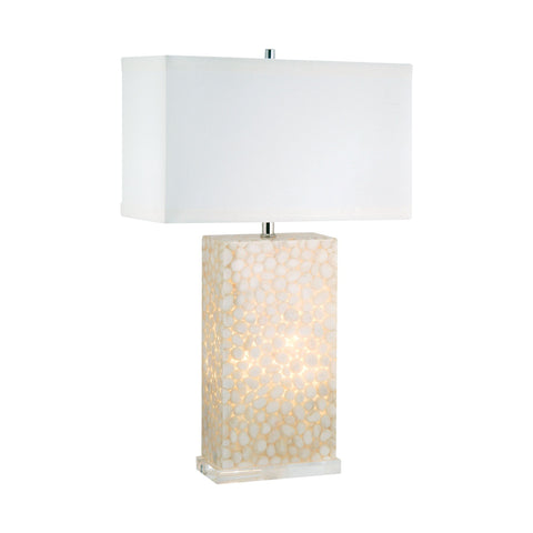 Lamp Works LAM-305C River Rock Collection Cream Finish Table Lamp