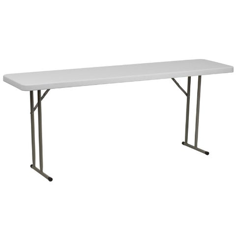 18''W x 72''L Granite White Plastic Folding Training Table RB-1872-GG by Flash Furniture - Peazz Furniture