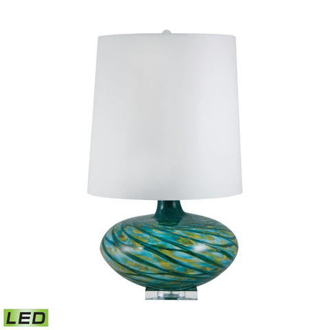 Lamp Works LAM-312-LED Big Bang Collection Blue Swirl Finish Table Lamp
