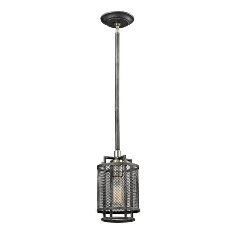 ELK Lighting 31236/1 Slatington Collection Silvered Graphite/Brushed Nickel Finish - PeazzLighting