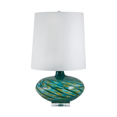 Lamp Works LAM-312 Big Bang Collection Blue Swirl Finish Table Lamp