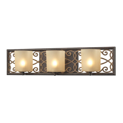 ELK Lighting 31438/3 Santa Monica Collection Weathered Bronze,Gold Highlights Finish - PeazzLighting