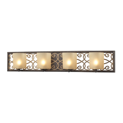 ELK Lighting 31439/4 Santa Monica Collection Weathered Bronze,Gold Highlights Finish - PeazzLighting
