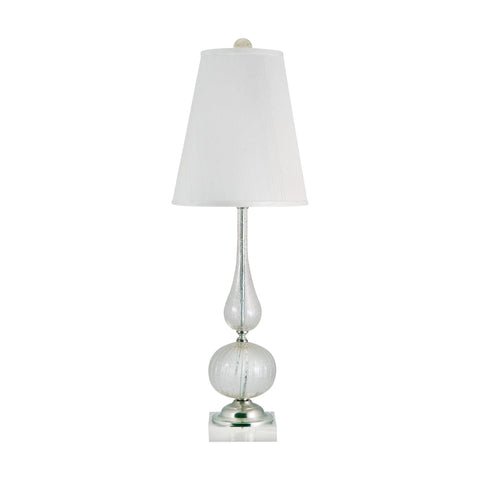 Lamp Works LAM-316 Serrated Collection Clear Finish Table Lamp