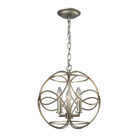 ELK Lighting 31801/3 Chandette Collection Aged Silver Finish - PeazzLighting