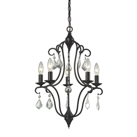 ELK Lighting 31814/5 Chandette Collection Oil Rubbed Bronze Finish - PeazzLighting