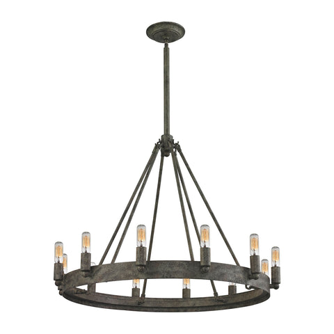 ELK Lighting 31821/12 Lewisburg Collection Malted Rust Finish - PeazzLighting