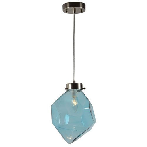 Renwil Martine Ceiling Fixture in Blue Glass Finish