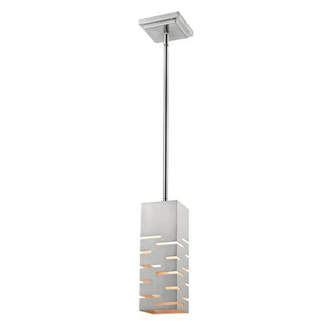 1-Light Mini Pendant in Brushed Nickel Finish