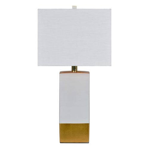 Renwil Le Smoking Table Lamp in White and Gold