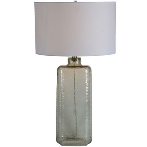 Renwil Inc LPT761 Southall - One Light Table Lamp, Clear Finish with White Fabric Shade