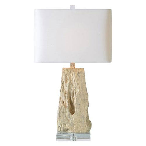 Renwil Heath Table Lamp in Silver and Cream