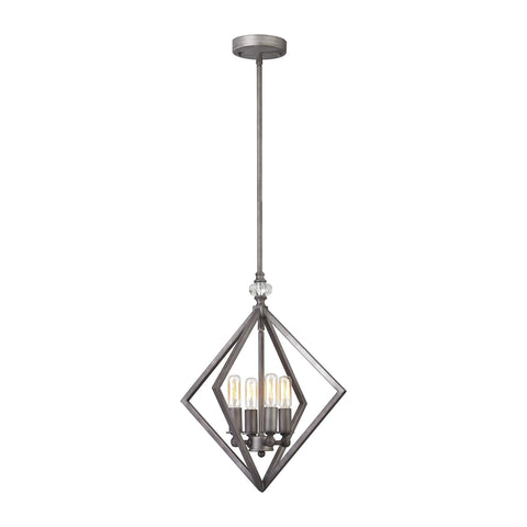 ELK Lighting 32131/4 Milo Collection Weathered Zinc Finish - PeazzLighting