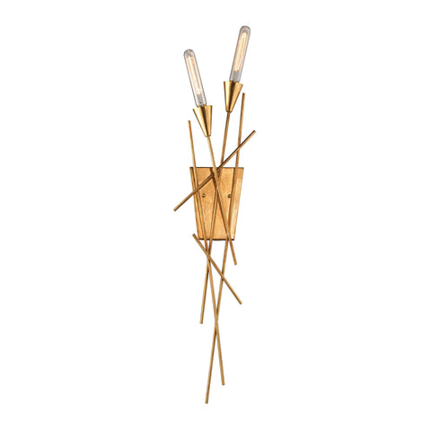 ELK Lighting 32180/2 Sticks Collection Antique Gold Leaf Finish - PeazzLighting