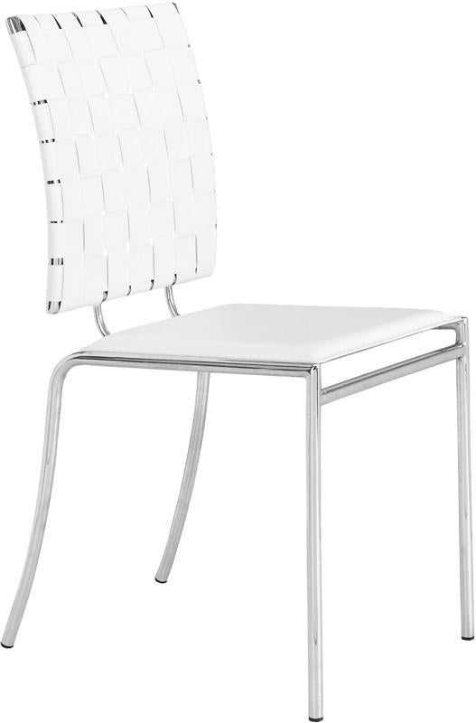 Chair Cross Dining Chair Color White Chromed Steel Criss Photo