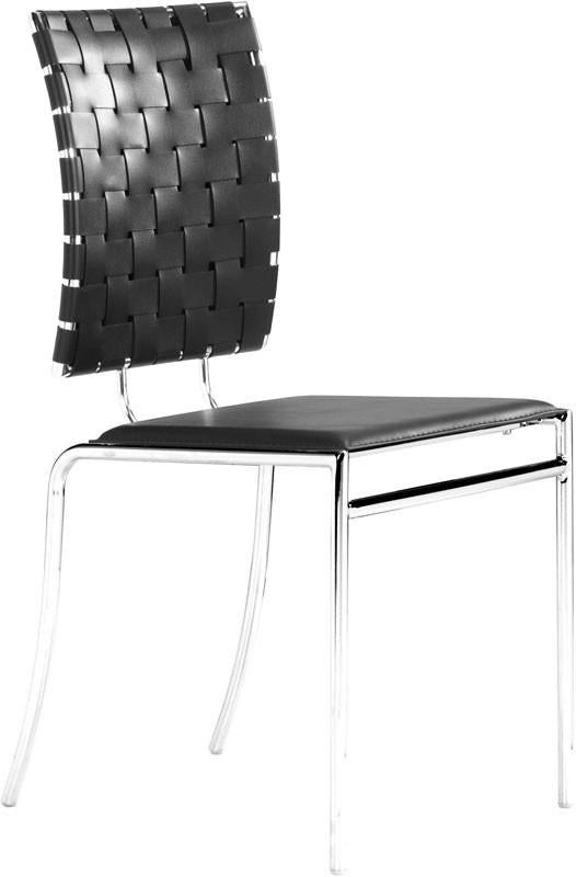 Cross Dining Chair Color Black Chromed Steel 18769 Product Photo