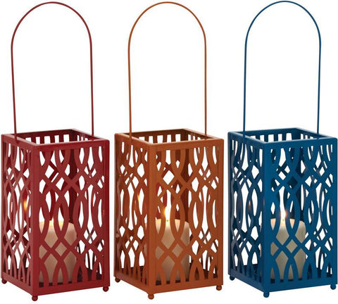 Benzara 34981 In Vogue Metal Candle Lantern 3 Assorted