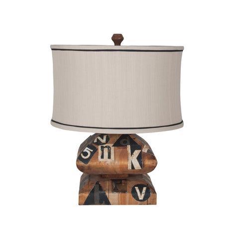 Guildmaster GUI-3516001 Graphics Collection Natural Aged Woodtone Finish Table Lamp