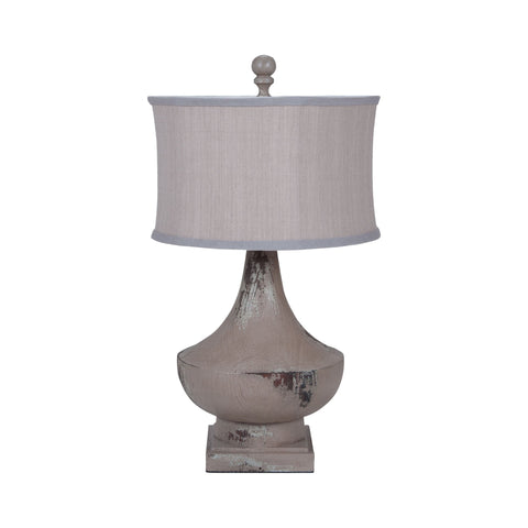 Guildmaster GUI-3516021 Vintage Collection Vintage Bleu Gris,Weathered Tuscan Finish Table lamp
