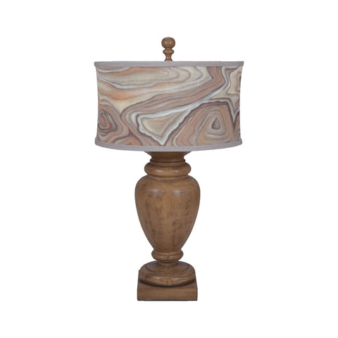 Guildmaster GUI-3516044 Turned Urn Collection Artisan Dark Stain Finish Table lamp