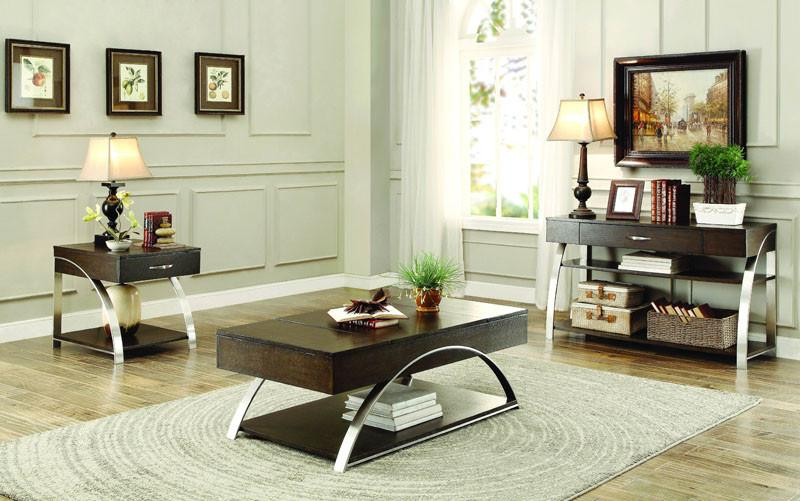 Homelegance 3533-30 Tioga Collection Color Espresso (Only Cocktail Table with Lift Top and Storage)