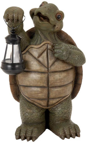 Benzara 35516 Polystone Turtle With Led Light