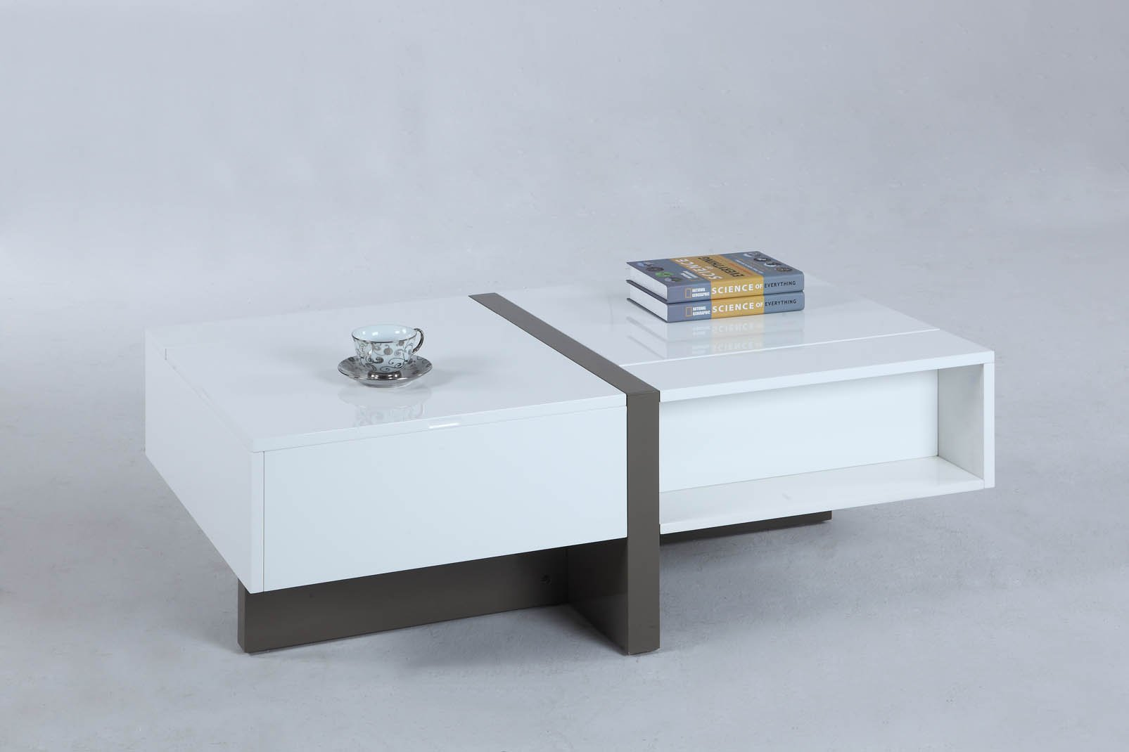 Chintaly Cocktail Table Raised Top White