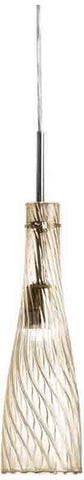 Dainolite 362-41P-PC-CHN 1LT Elongated Pendant,Champagne Gl