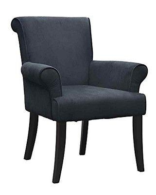 Linon Chair Black Calla