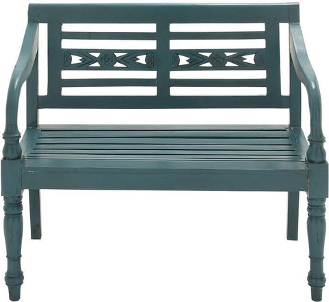 Benzara 37765 Cool In Green Wood Mahogany Bench