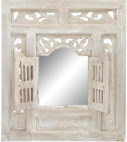 "Bayden Hill Wd Mirror Decor 28""H, 24""W - Peazz.com"