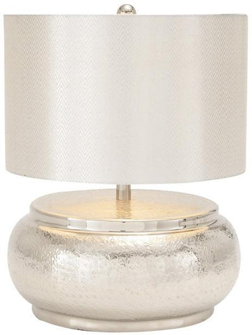 "Bayden Hill Alum Table Lamp 18""H - Peazz.com"